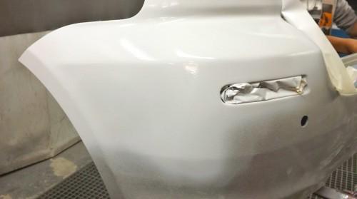 Paragolpes Toyota reparado